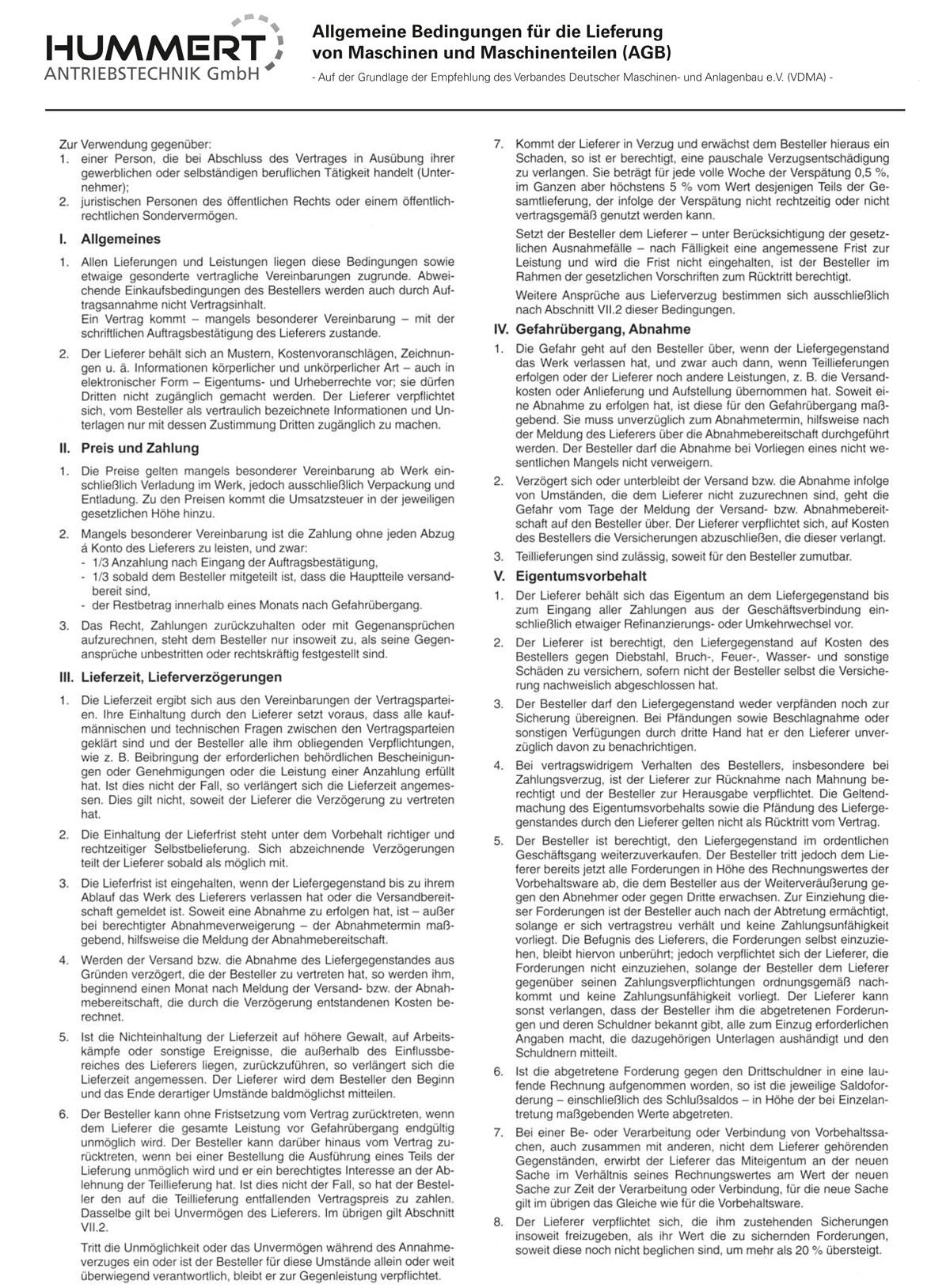 AGB Hummert Antriebstechnik GmbH, Seite 1